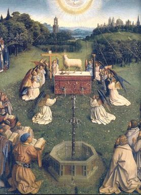 347px-Ghent_Altarpiece_D_-_Adoration_of_the_Lamb_2